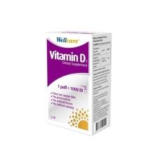 Wellcare Vitamin D3 1000 IU Sprey Takviye Edici Gıda 5 Ml