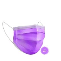 AFS Medikal 3 Katlı 10 Adet Full Ultrasonik Cerrahi Maske Mor