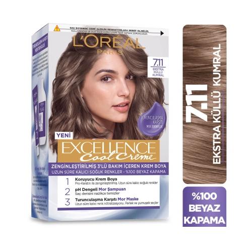 L'Oréal Paris Excellence Cool Creme 7-11 Ekstra Küllü Kumral