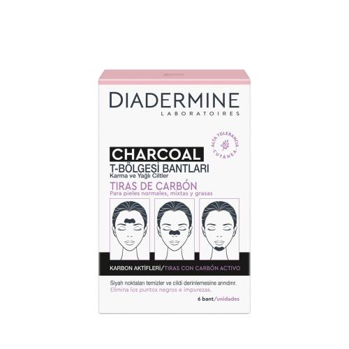 Diadermine T Bölgesi Kömür Bandı Charcoal Karbon Aktifleri 6'lı