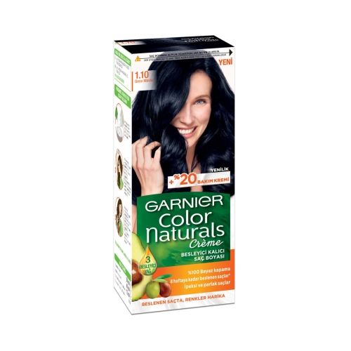 Garnier Color Naturals Saç Boyası 1-10 Gece Mavisi