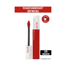 Maybelline New York Super Stay Matte Ink Likit Mat Ruj - 330 Innovator- Kırmızı