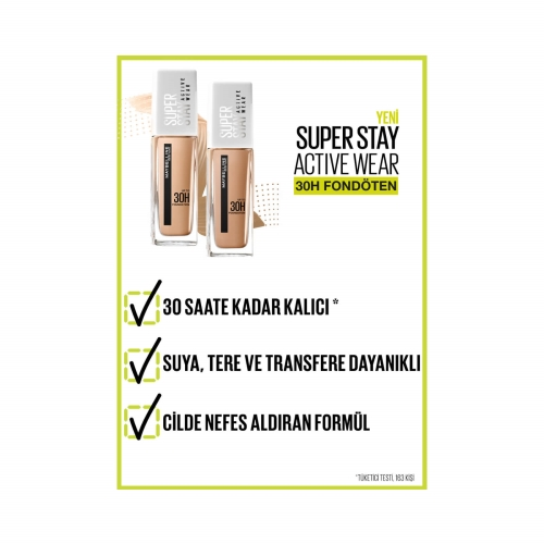 Maybelline New York Super Stay Active Wear 30H Fondöten 07 Classic Nude