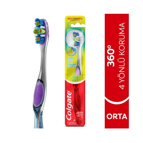 Colgate 360° Gelişmiş Komple Ağız Sağlığı Orta Diş Fırçası