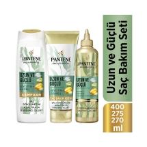 Pantene Uzun ve Güçlü Bambu ve Biotin Saç Bakım Şampuanı 400 Ml + Saç Kremi 275 Ml + Şekillendirici Krem 270 Ml Saç Bakım Seti