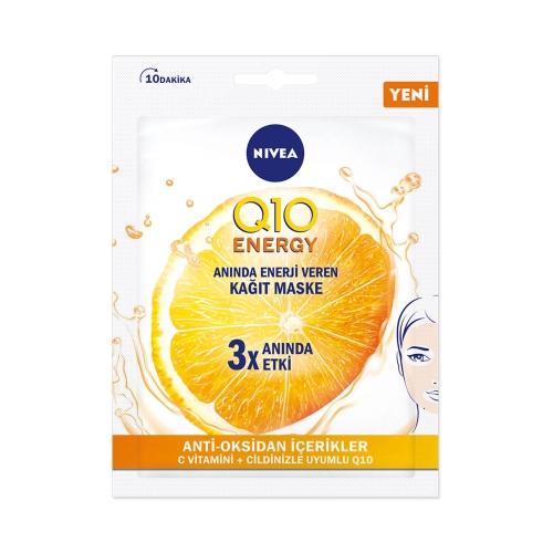 Nivea Q10 Energy C Vitamini 10 Dakika Kağıt Maske 1 Adet