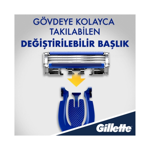 Gillette Mach3 Hybrid Tıraş Makinesi+Yedek Bıçak 8'li