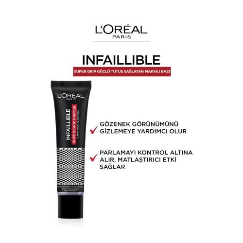 L'Oréal Paris Infaillible Super Grip Güçlü Tutuş Sağlayan Makyaj Bazı 35 Ml
