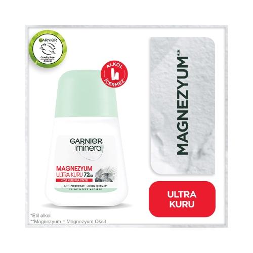 Garnier Mineral Magnezyum Ultra Kuru Roll On 50 Ml