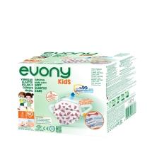 Evony Kids Yumuşak Elastik Kulaklı Cerrahi Maske 3 Katlı 50 Adet