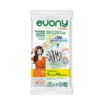 Evony Trendy Yumuşak Elastik Kulaklı Cerrahi Maske 3 Katlı 10 Adet