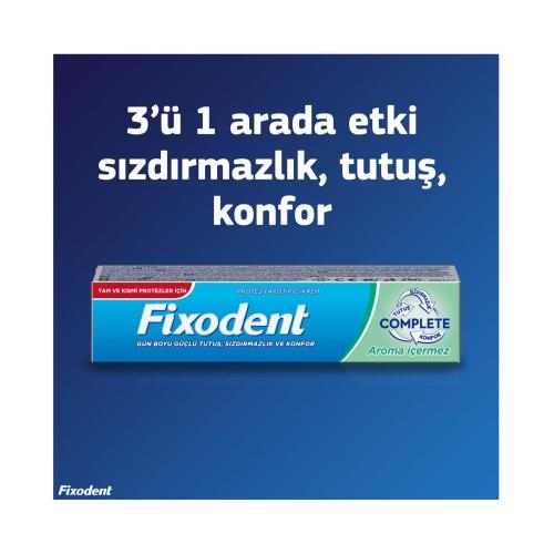 Fixodent Complete Diş Protezi Yapıştırıcı Krem Aromasız 47 Gr