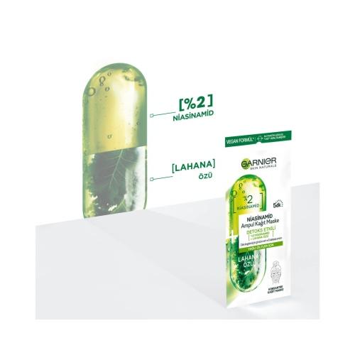 Garnier Niasinamid Detoks Etkili Ampul Kağıt Yüz Maskesi 1 Adet