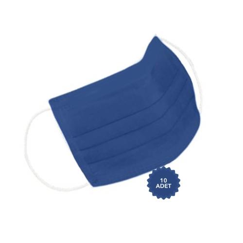 AFS Medikal 3 Katlı 10 Adet Full Ultrasonik Cerrahi Maske Lacivert