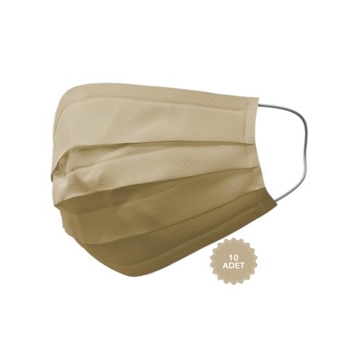 AFS Medikal 3 Katlı 10 Adet Full Ultrasonik Cerrahi Maske Ten Rengi