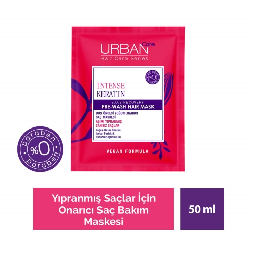 Urban Care Intense Keratin Yoğun Hasar Onarıcı Duş Öncesi Saç Bakım Maskesi 50 Ml