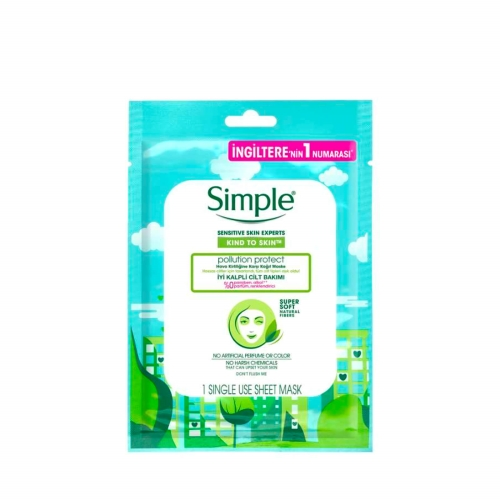 Simple Hava Kirliliğine Karşı Kağıt Maske 21 Ml