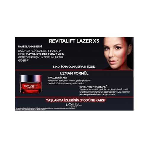 L'Oréal ParisRevitalift Lazer X3 Yoğun Yaşlanma Karşıtı Gündüz Bakım Kremi 15 Ml - Tanışma Boyu