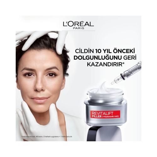L'Oréal Paris Revitalift Filler Yoğun Dolgunlaştırıcı Yaşlanma Karşıtı Gündüz Kremi 50 Ml - Hyaluronik Asit