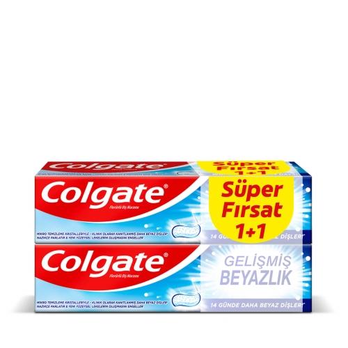 Colgate Gelişmiş Beyazlık Diş Macunu 50 Ml 1+1