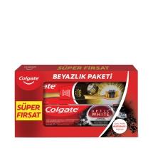 Colgate Optik Beyaz Kömür Diş Macunu 50 ml + 360 Gold Tekli Diş Fırçası