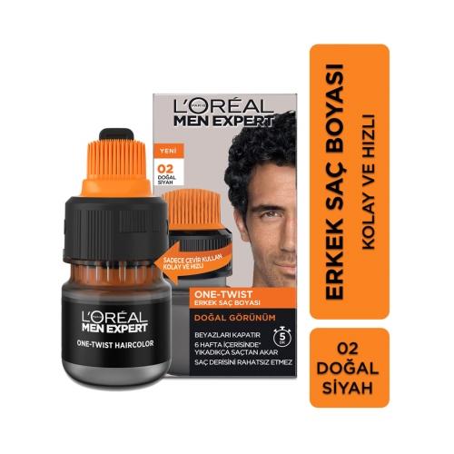L'Oréal Paris Men Expert One-Twist Erkek Saç Boyası Siyah 02
