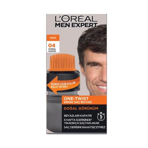 L'Oréal Paris Men Expert One-Twist Erkek Saç Boyası Kahve 04