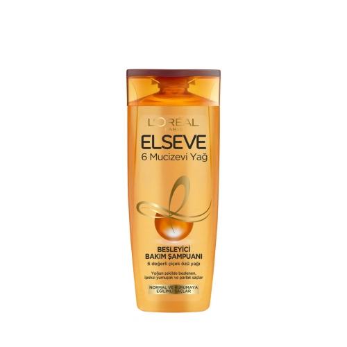 L'Oréal Paris Elseve 6 Mucizevi Yağ Besleyici Bakım Şampuanı 375 Ml